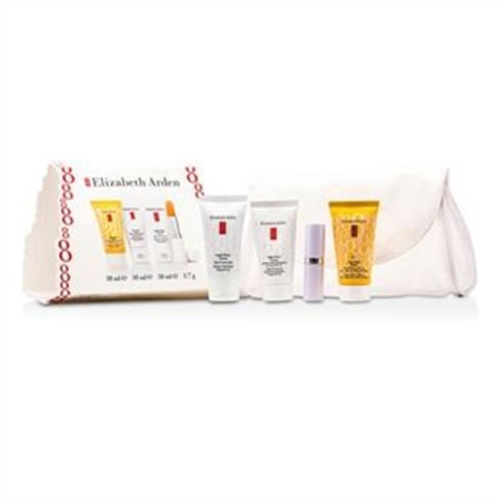 Elizabeth Arden Eight Hour Set: Skin Protectant + Intensive Daily Moist SPF15 + Sun Defense SPF 50 + Lip Protectant 4pcs+1bag Skincare