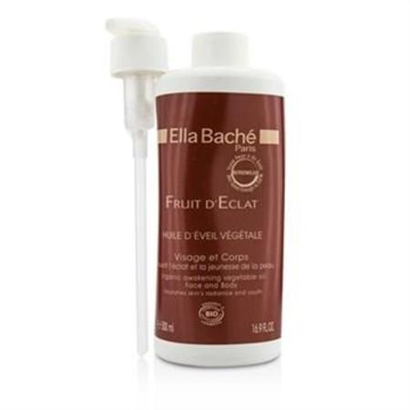 Ella Bache Fruit D'Eclat Organic Awakening Vegetable Oil  for Face & Body (Salon Product) 500ml/16.9oz Skincare