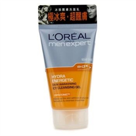 L'Oreal Men Expert Hydra Energetic Skin Awakening Icy Cleansing Gel 100ml / 3.4oz Men's Skincare