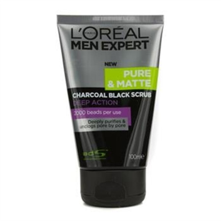 L'Oreal Men Expert Pure & Matte Charcoal Black Scrub 100ml/3.3oz Men's Skincare