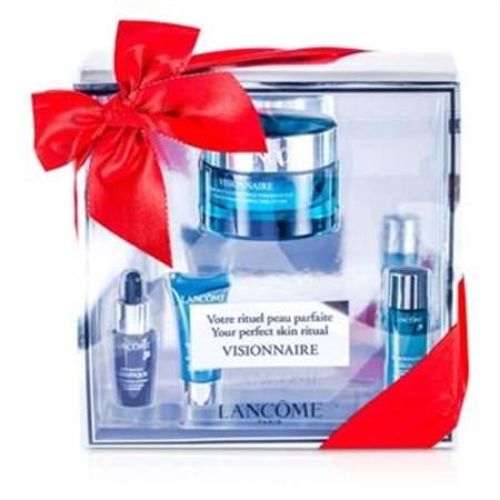 Lancome Visionnaire (Your Perfect Skin Ritual) Set: Advanced Cream 50ml + Skin Corrector 7ml + Concentrate 7ml + Eye Contour 5ml 4pcs Skincare