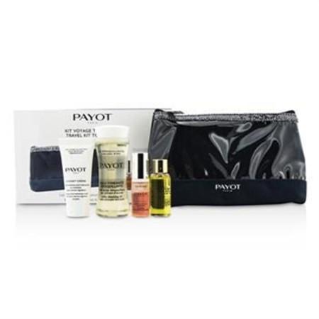 Payot Travel Kit Top To Toe Set: Cleansing Oil 50ml + Cream 15ml + Elixir D'Ean Essence 5ml + Elixir Oil 10ml + Bag 4pcs + 1bag Skincare