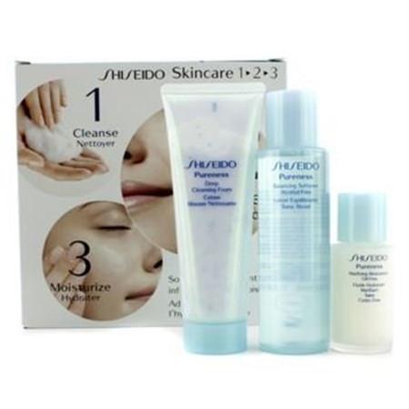Shiseido Pureness Kit: Cleasing Foam 75ml/2.7oz + Softener 100ml/3.3oz + Moisturizer 30ml/1oz 3pcs Skincare