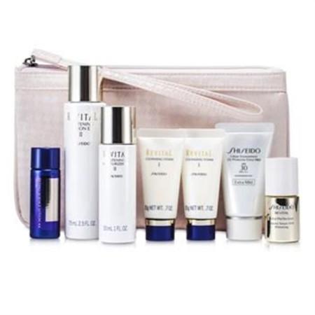 Shiseido Revital Set: Cleansing Foam I 20gx2pcs+Lotion EX II 75ml+Serum AAA 10ml+Moisturizer EX II 30ml+Lotion AA 20ml... 7pcs+1Bag Skincare