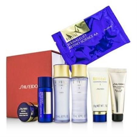 Shiseido Revital Set: Cleansing Foam I + Lotion EX I  + Moisturizer EX I  + Primer + Lotion AA  + Cream AAA  + Eye Mask 1pair 7pcs Skincare