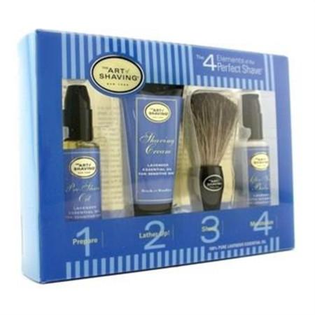 The Art Of Shaving Starter Kit - Lavender: Pre Shave Oil + Shaving Cream + Brush + After Shave Balm 4pcs Men's Skincare