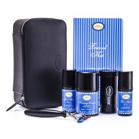 The Art Of Shaving Travel Kit (Lavender): Razor+ Shaving Brush+ Pre-Shave Oil 30ml+ Shaving Cream 45ml+ A/S Balm 30ml+ Case 5pcs+1case Men's Skincare