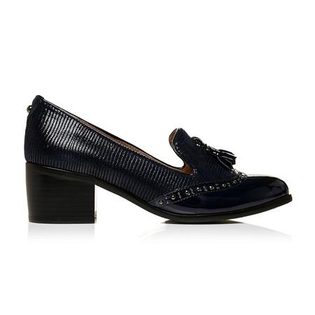 Moda in Pelle Carletta Navy Medium Smart Shoes
