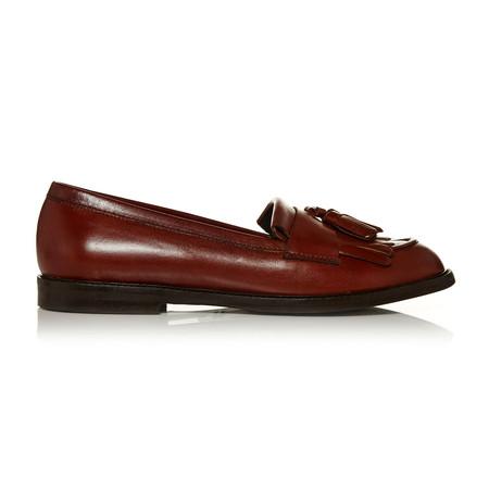 Moda in Pelle Emilo Tan Flat Smart Shoes