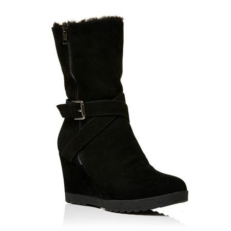 Moda in Pelle Gracia Black High Casual Short Boots