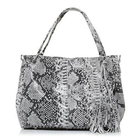 Moda in Pelle Granzebag Grey Casual Handbags
