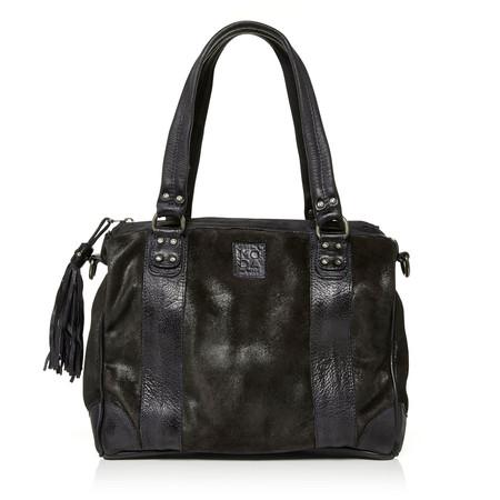 Moda in Pelle Grennabag Navy Casual Handbags