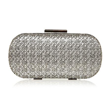 Moda in Pelle Karleoclutch Silver Matchmate Handbags