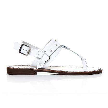 Moda in Pelle Morga White Flat Casual Sandals