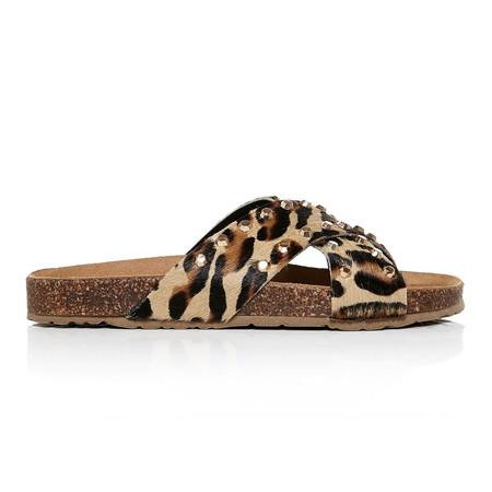 Moda in Pelle Naiomi Leopard Flat Casual Sandals