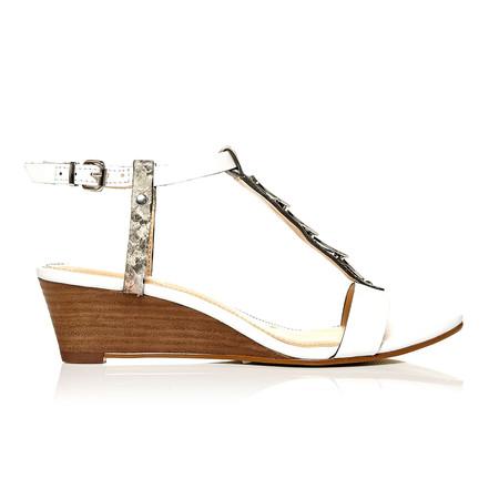 Moda in Pelle Pablar White Medium Smart Sandals