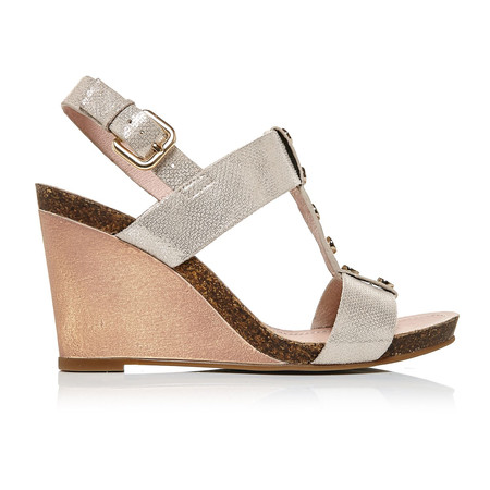 Moda in Pelle Parola Champagne High Smart Sandals