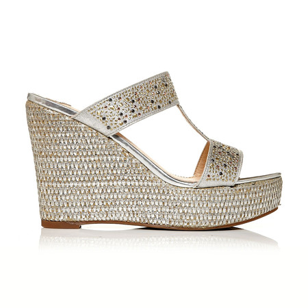 Moda in Pelle Zambelli Silver High Occasion Sandals