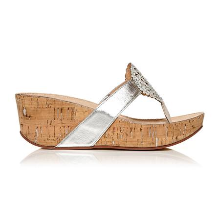 Moda in Pelle Zanettie Silver Medium Occasion Sandals