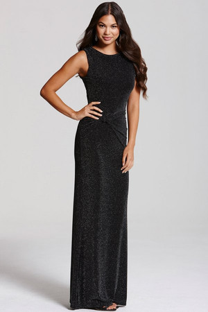 Black Knot Detail Maxi Dress