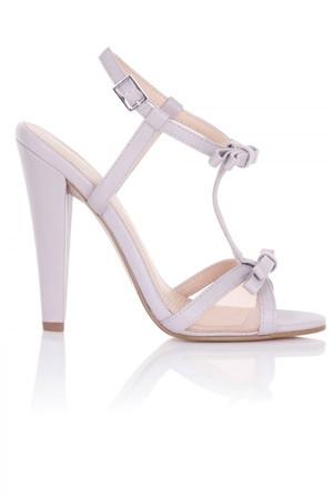 Ellette Lilac Mesh Bow Sandals