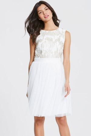 Sequin Open Back Prom Dress