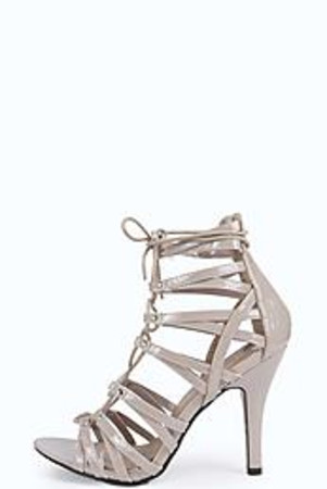 Cage Ghillie Patent Heels nude