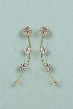 Diamante Ear Cuff Set gold