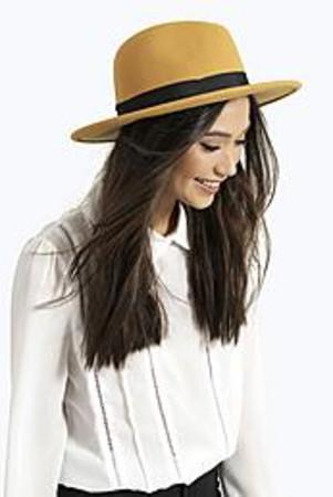Frances 100% Wool Fedora Hat mustard