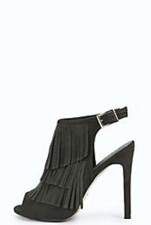 Fringe Shoe Boot khaki