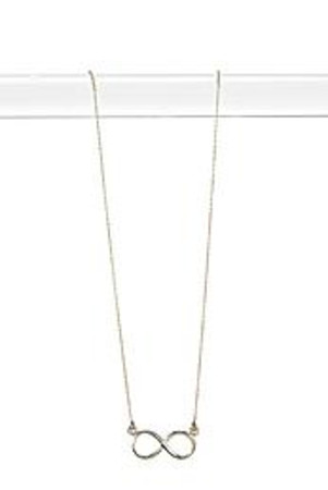 Isla Gold Plated Infinity Necklace - gold