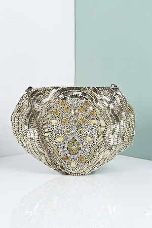 Jasmine Shell Clutch Bag gold