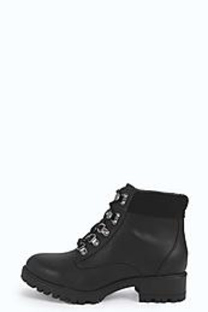 Lace Up Hiking Boot black