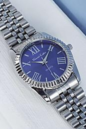 Large Faced Bracelet Watch blue