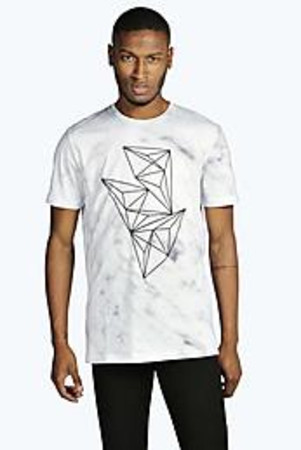 Marble T Shirt With Embossed Print white