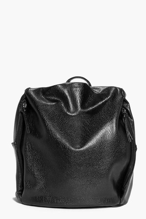 Simple Side Zip Backpack black
