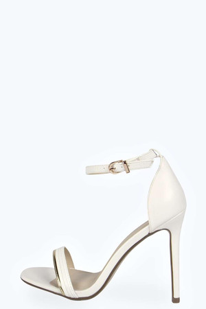 Skinny Two Part Heels - white