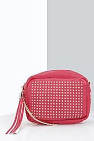 Stud Detail Cross Body Bag red