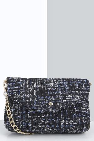 Tweed Cross Body Bag black