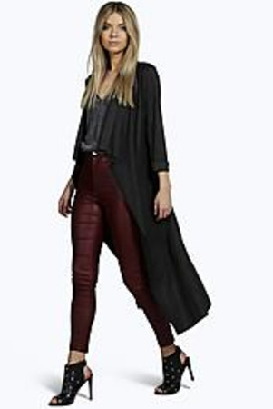 Waterfall Duster Coat black