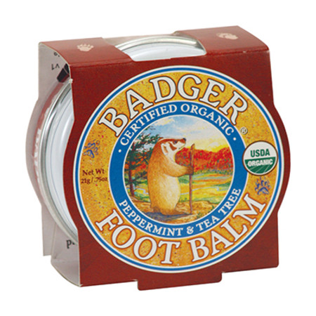Badger Balm Mini Foot Balm for Hard Walking Feet 21g