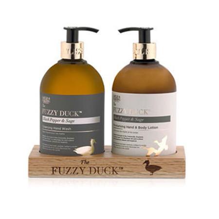 Baylis & Harding The Fuzzy Duck 2 Bottle Set In Wooden Rack