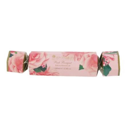 Bronnley Christmas Cracker Shower Gel Pink Bouquet 100ml