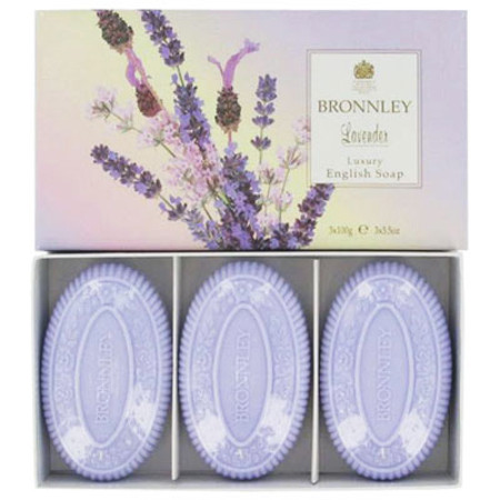 Bronnley Lavender English Soaps 3 x 100g