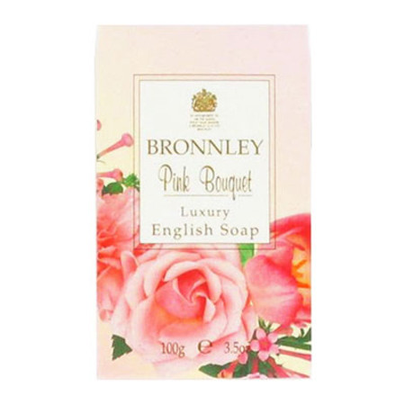 Bronnley Pink Bouquet Luxury English Soap 100g