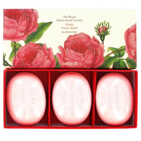 Bronnley Rose Soaps 3 x 100g