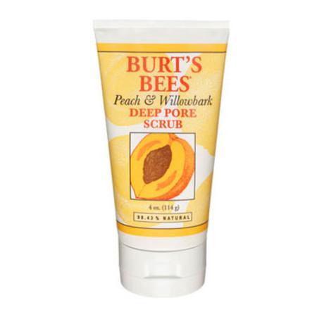 Burt's Bees Deep Pore Scrub Peach and Willowbark 110g