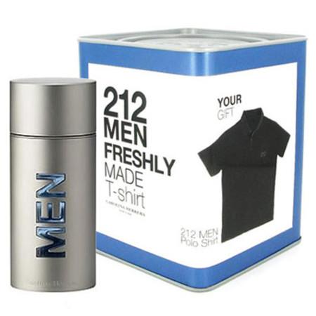 Carolina Herrera 212 Men EDT Spray 50ml with Free Gift