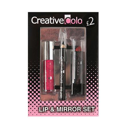 Creative Colours Lip & Mirror Gift Set