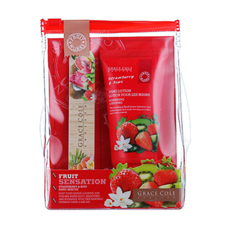 Grace Cole Fruit Works Handcare Duo Strawberry+Kiwi